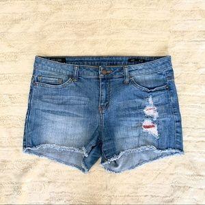 William Rast Distressed Denim Shorts